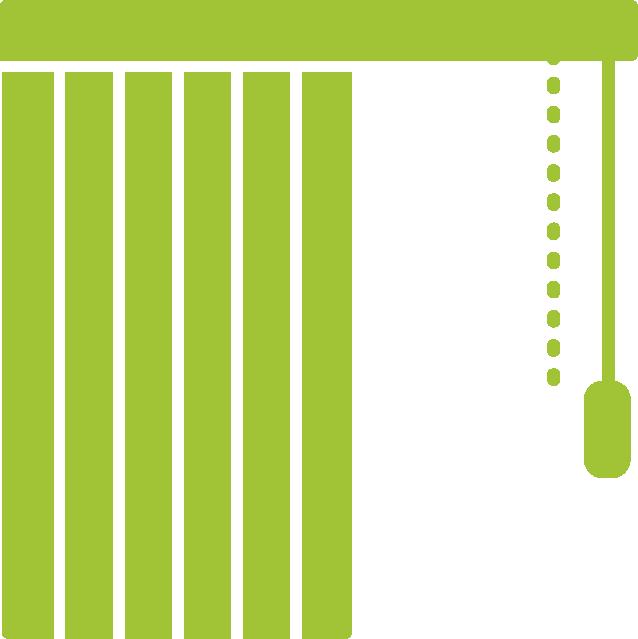 Piktogramm Vertikallamellen