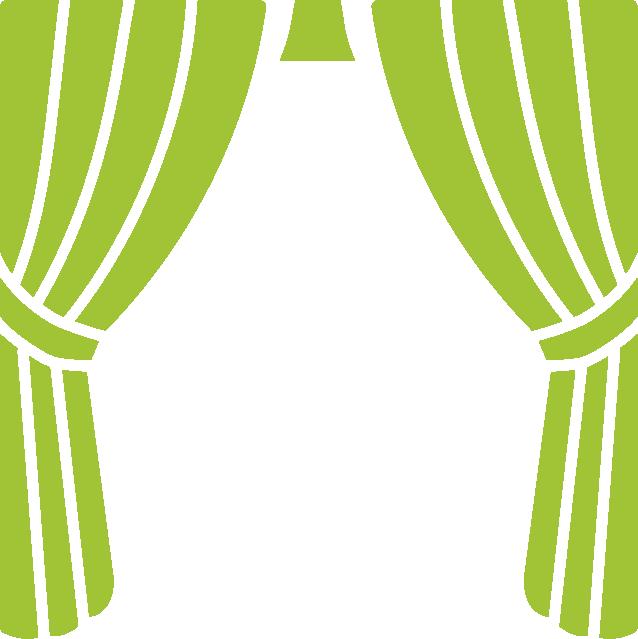 Piktogramm Vorhang